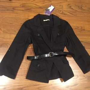 Black belted jacket Blazer